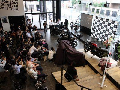 トライアンフ東京の1周年記念パーティーと合わせて ニューモデル Speed Triple RS発表とラリーマシンTRAMONTANAを公開