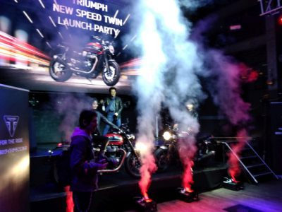 トライアンフが2019年モデル、新型「SPEED TWIN」のローンチパーティーを開催