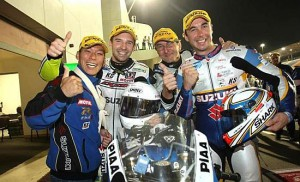 2年連続・通算11回目の世界耐久選手権を制したSERTのメンバー