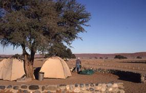 快適なキャンプ場