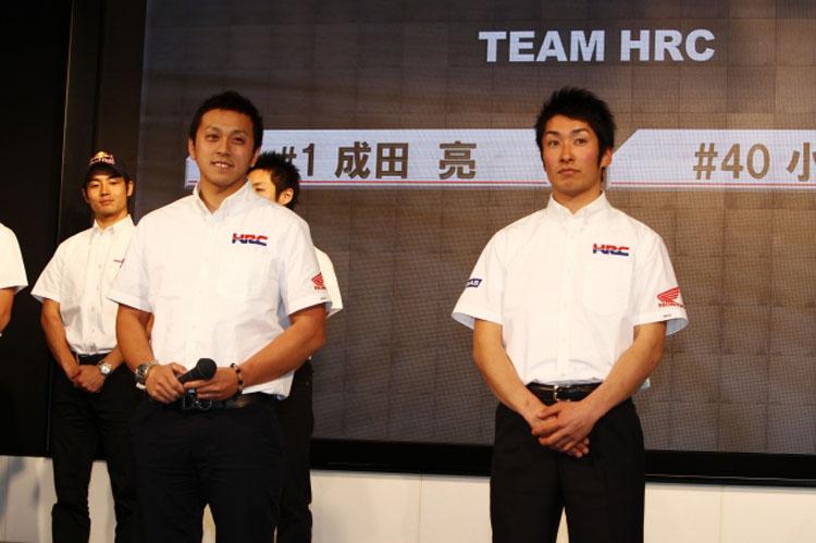 小方選手はIA1クラスにステップアップで、HRCは3名ともIA1クラスに参戦します。平田選手はイタリアでの強化合宿のため異例!の発表会欠席