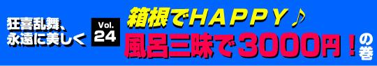 箱根でHAPPY♪風呂三昧で3000円!の巻