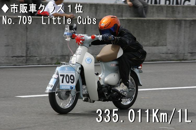 ◆市販車クラス1位No.709 Little Cubs 335.011Km/1L