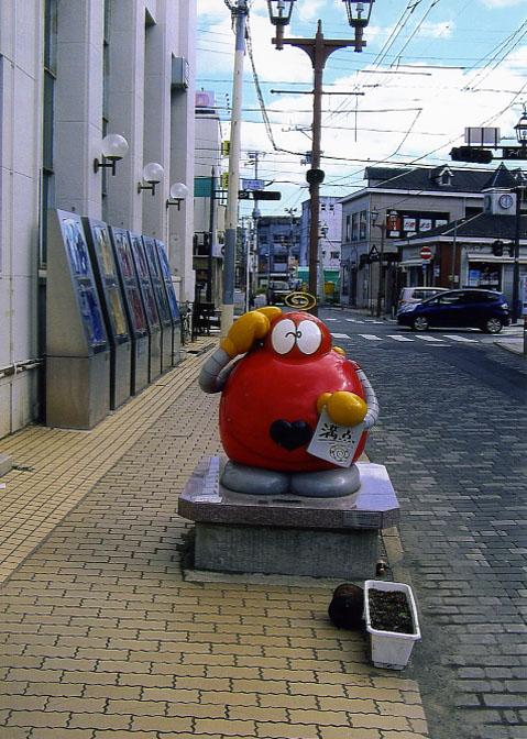 街中のあちこちに石ノ森先生のキャラクターが。ロボコンのTV版、おもしろかったよね