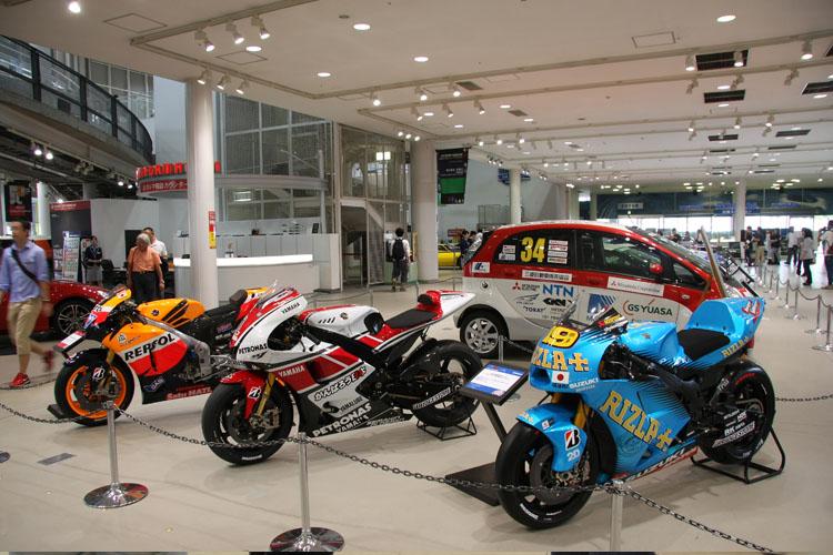 メガウェブに展示される最後の800ccとなった2011年シーズンのMotoGPマシン。こちらではモータースポーツに関わるマシンをメインに集められている