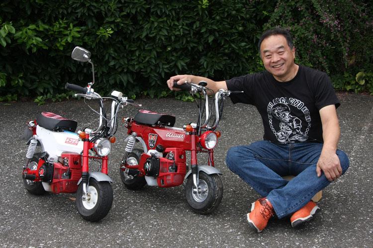 CK Design創立30周年記念も兼ねて開発された仔犬ST31A。佐々木代表は本田技術研究所出身。「自分で作りたいバイクを作るためにホンダを飛び出しました」という熱い心の持ち主