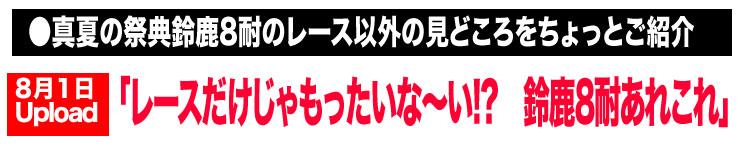 ●真夏の祭典鈴鹿8耐のレース以外の見どころをちょっとご紹介「レースだけじゃもったいな〜い!? 鈴鹿8耐あれこれ」