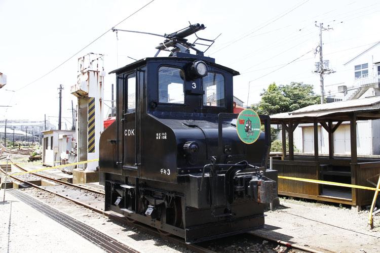 デキ3と呼ばれる電気機関車。現存している電気機関車としては最小なんだとか。