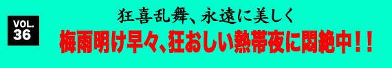 第36回 梅雨明け早々、狂おしい熱帯夜に悶絶中!!