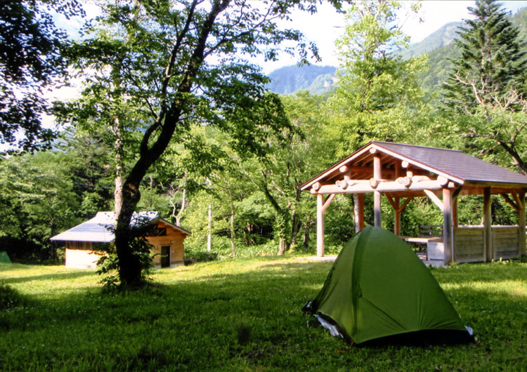 一度泊まってみたかった平湯キャンプ場。かなり広いです。料金安いし、また行きたいな