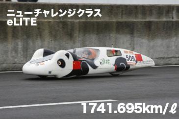 ニューチャレンジクラス<br /> eLITE 1741.695 km/リッター