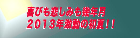 喜びも悲しみも幾年月 2013年激動の初夏!!