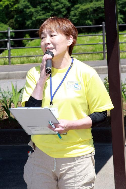 イベント事務局の村上高子さんはライダーズピット白河関『そば処関守亭』を経営する