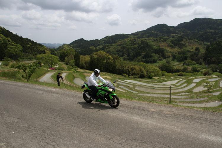 田植えが終わったばかり。ニッポンの原風景、って感じがいいね