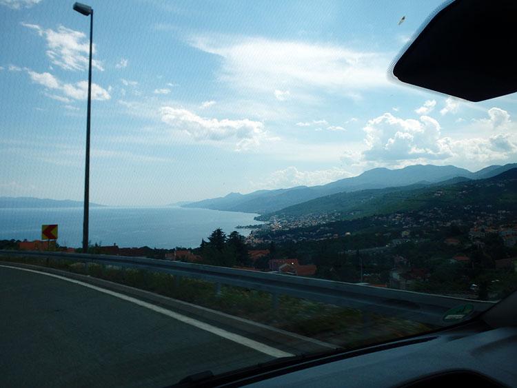 アドリア海が見えてきた!