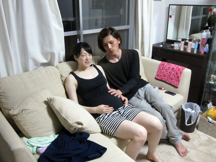 娘とムコ殿。第一子誕生に期待と不安と…。大丈夫だよ