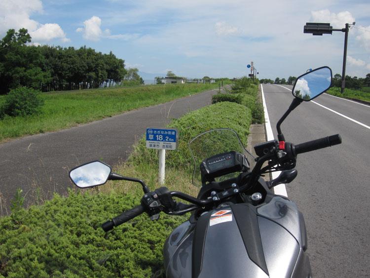 さざなみ街道。琵琶湖畔を走るグッドロードです