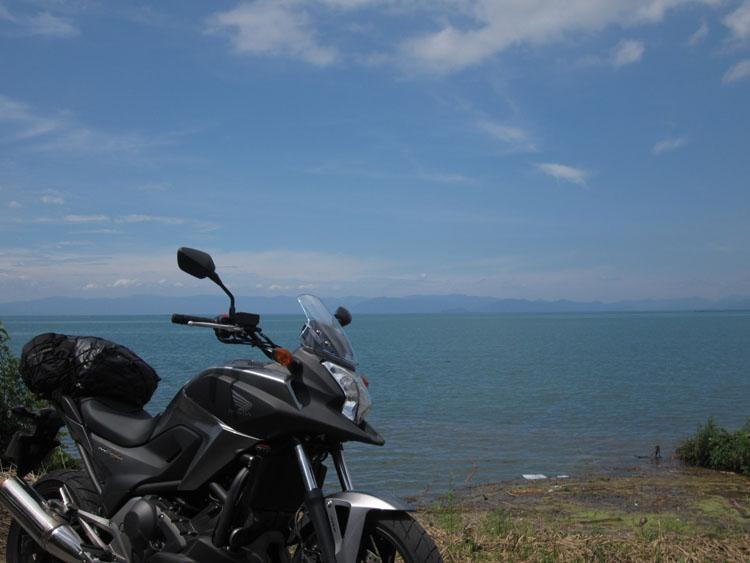 お天気がよくなって、琵琶湖の美しさも格別に