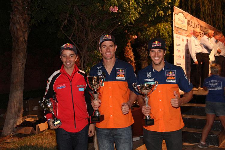 2014年モロッコラリーは1位KTM マルク・コマ、2位、KTMサム・サンダーランド、3位ホンダ、エルダー・ロドリゲスだった