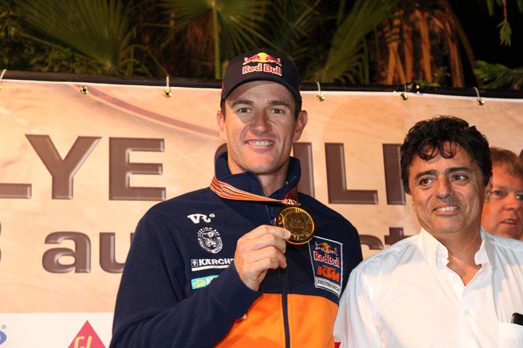 モロッコラリーの優勝でクロスカントリーラリー選手権のワールドタイトルも獲得したコマ。来シーズンはゼッケン1をつけて戦うことになる