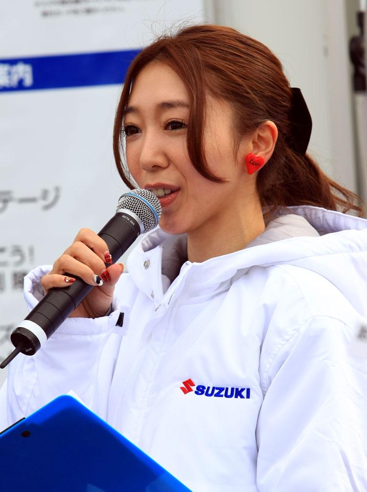 MCを務めた浜崎美保ちゃん。Pit-FMやTOKYO FMでも活躍中の人気パーソナリティだ
