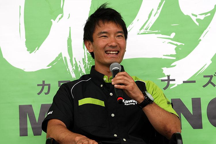 ゲストは全日本ロードレースからチームグリーンの渡辺一樹選手、全日本モトクロスからカワサキレーシングチームの三原拓也選手