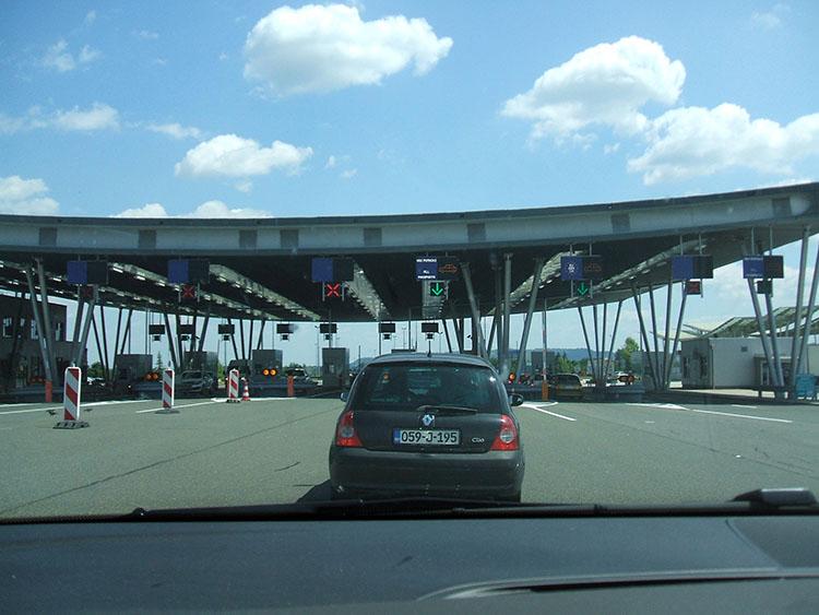 クロアチアへの国境ゲート