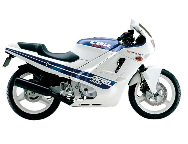 CBR400R シャスタホワイト×ミクロネシアンブルーメタリック
