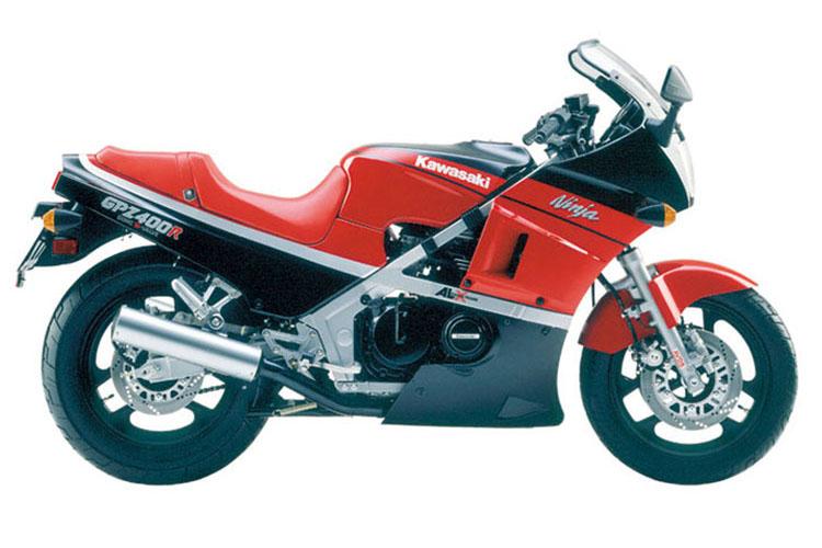 GPZ400R エボニー×ファイヤークラッカーレッド