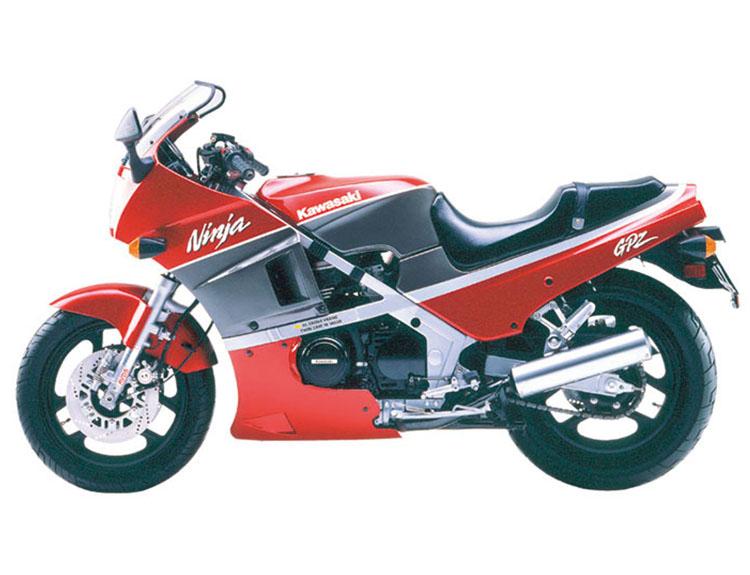 GPZ400R キャンディパーシモンレッド×メタリックグレーストーン