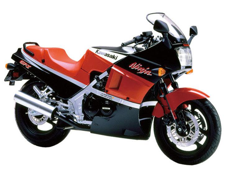 GPZ400R エボニー×ファイアクラッカーレッド