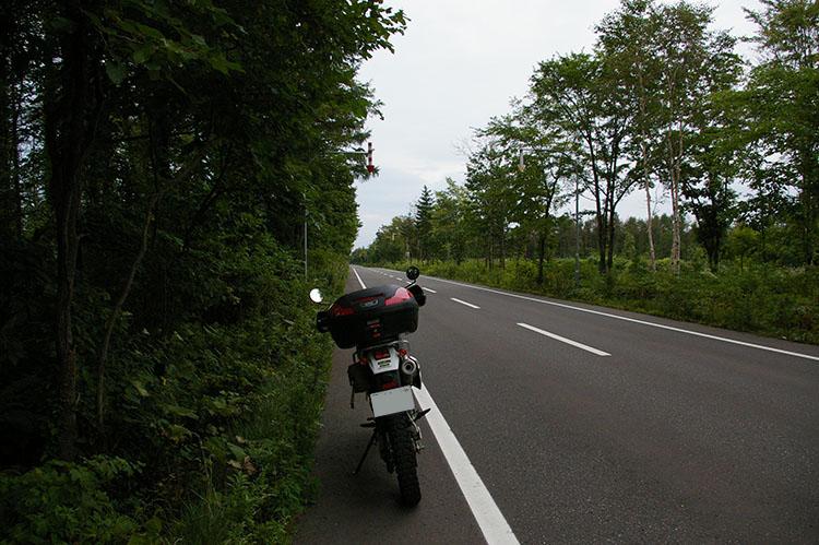 買ってから翌年、アームズマガジンの取材で北海道を訪れた時に撮影したもの。北海道らしい真っ直ぐに延びる車道に感動した記憶がある