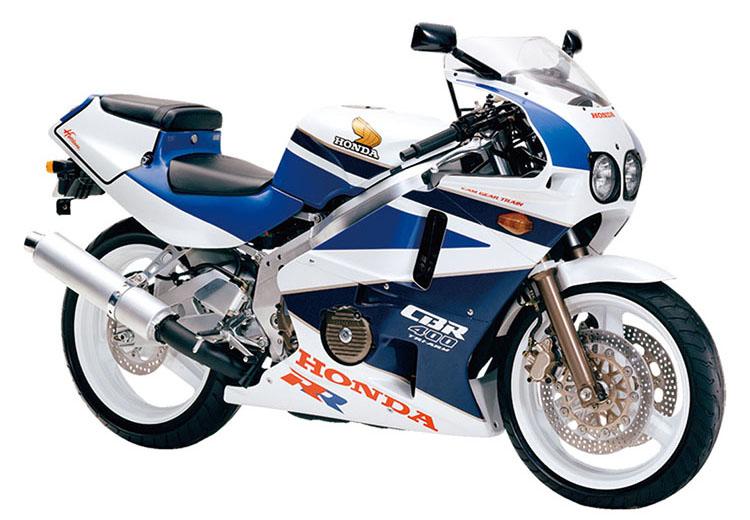 CBR400RR(NC23)_ セイシェルナイトブルー×パールクリスタルホワイト