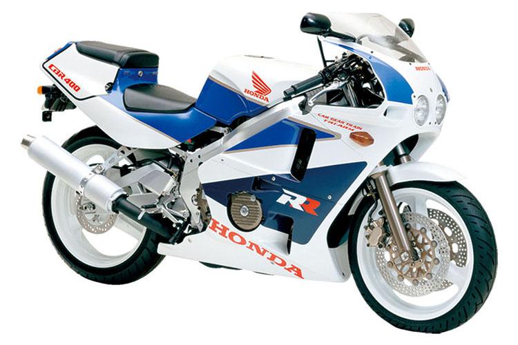 CBR400RR パールクリスタルホワイト×テラブルー×セーシェルナイトブルー