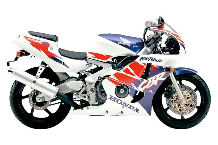 CBR400RR(NC29)_ロスホワイト×ジョーケイブルーメタリック