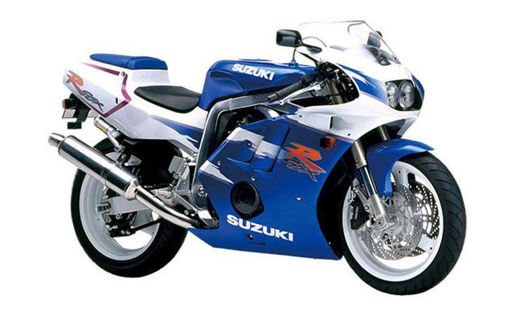GSX-R400R パールスティルホワイト×パールスズキミディアムブルー