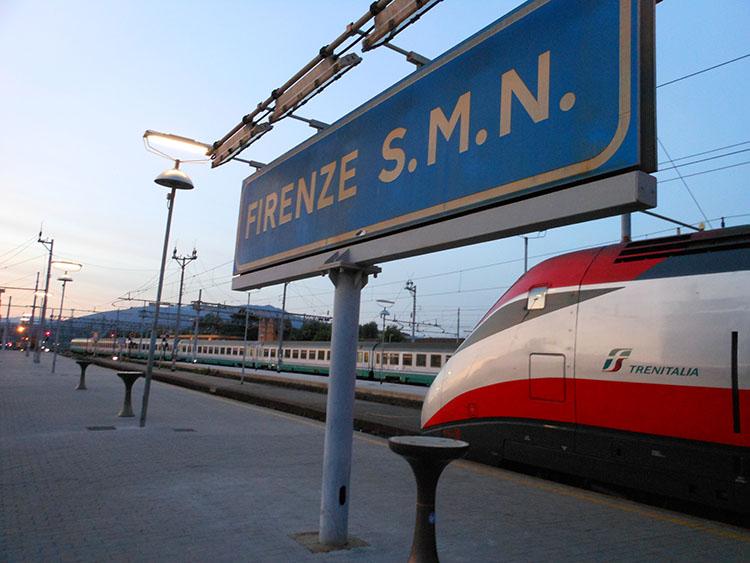 フリーの日は列車でフィレンツェなどにも行けます