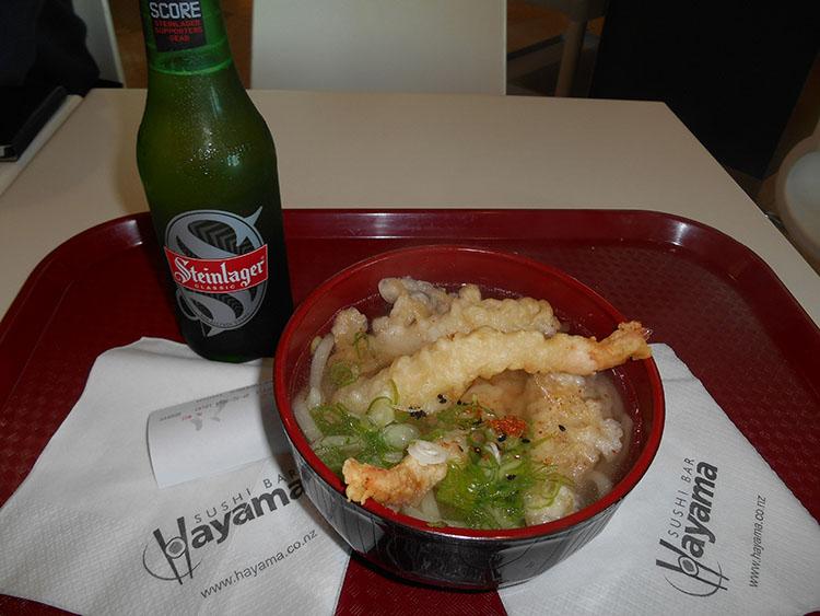 5天ぷらうどんも優しい味
