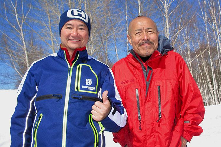 ナビゲーターの源治篤さん(左)とゲストの伊田井佐夫さん(右)
