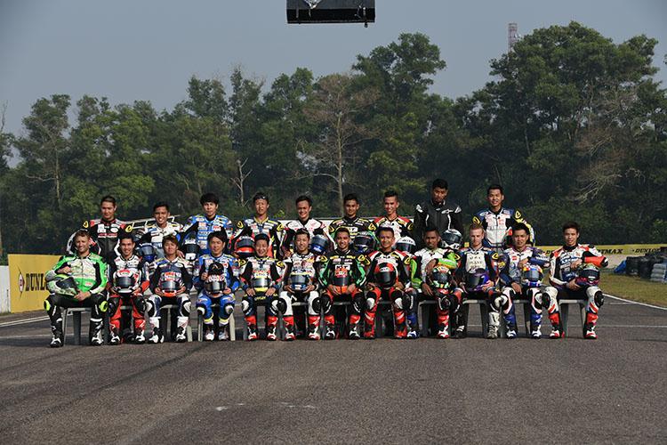 FIMアジアロードレース選手権スーパースポーツ600クラスに参戦するライダー