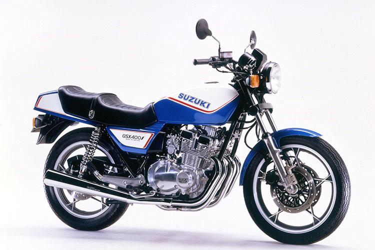 GSX400FⅡ ブルー×ホワイトツートン