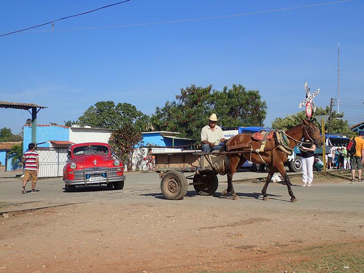 4キューバといえば馬車と旧車