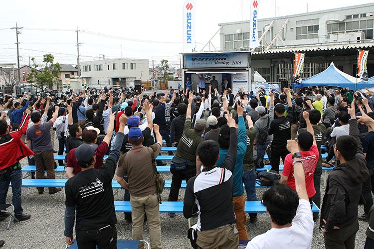 まだまだ出てくる豪華賞品にヒートアップのじゃんけん大会。「遠くからきたで賞」の東日本エリアは栃木県壬生町から、西日本エリアは大分県大分市からのライダーが受賞した