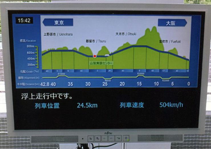 列車速度はなんと504km/h