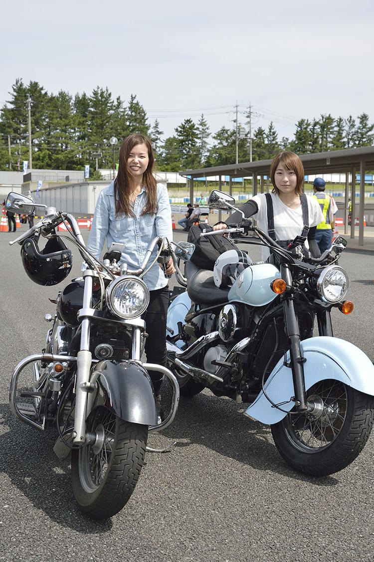 矢野 輝さん(向かって左) バルカンドリフター 井澤未紗さん(向かって右) バルカンドリフター