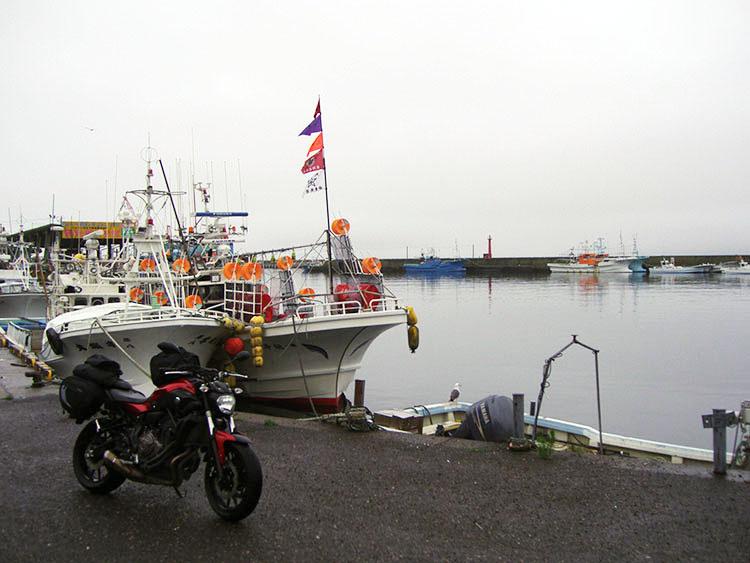 羅臼の漁港