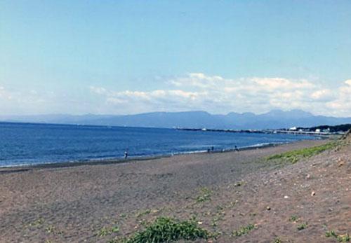 潮風が心地よい湘南の海。ここで1日のんびりするのもいいなあ〜
