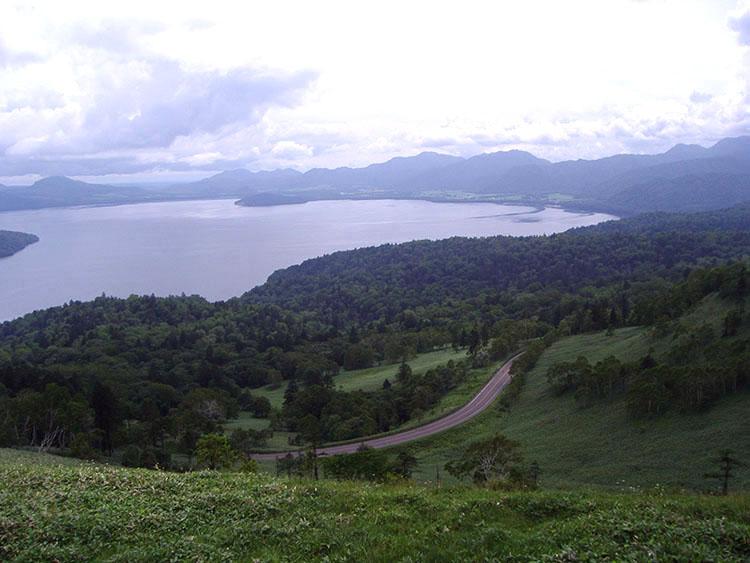 美幌峠の南東側