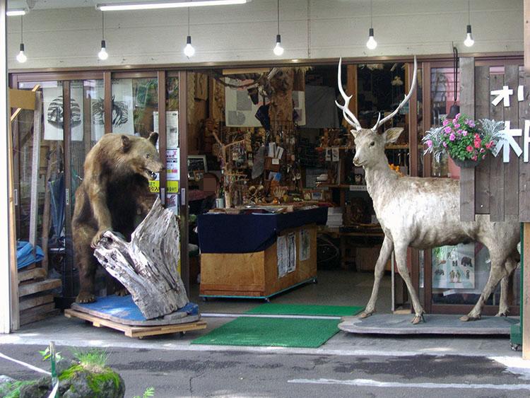 アイヌコタンの土産店