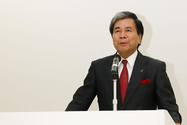 熊本県知事の蒲島郁夫氏